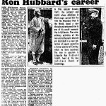 London Sunday Times 5 Oct 1969 Revealed for the first time...the odd beginnings of Ron Hubbard's career (p.1)