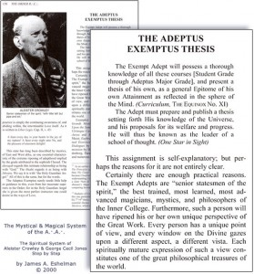 The Adeptus Exemptus Thesis