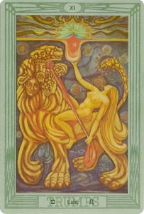 XI Lust. Thoth Deck